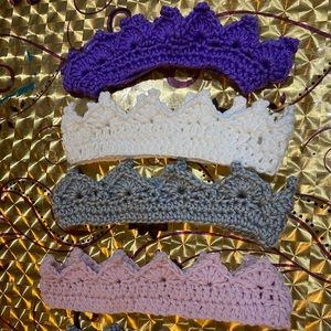 Brand new 3 beautiful crown headband  handmade